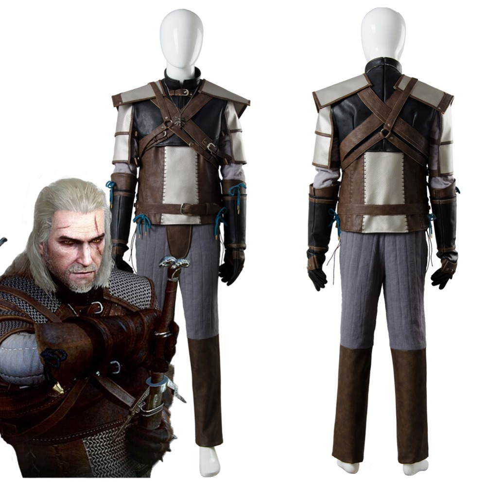 The Witcher 3 sauvage chasse Cosplay Costume Geralt de Rivia Cosplay Costume complet adulte Halloween carnaval Costume sur mesure