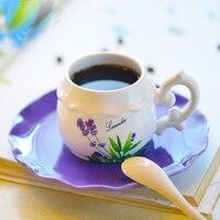Splendidamente rustico tazza di caffè di ceramica giardino in stile europeo fiore tazza di tè nizza tazze di latte