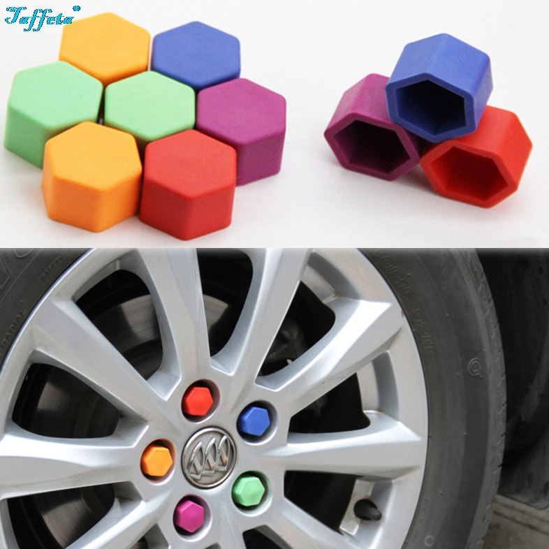 20 Pcs/Set Silicone <font><b>Car</b></font> <font><b>Wheel</b></font> <font><b>Nuts</b></font> Bolts Cover Dust Protective Tyre Valve Screw <font><b>Cap</b></font> Cover (color Mixing) image