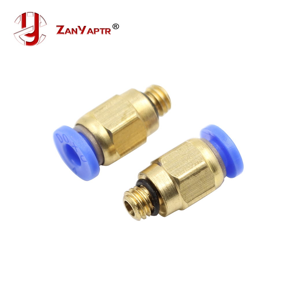 2 Pcs/lot PC4-M6 Pneumatic Straight Fitting Connector For 4mm OD Tubing M6 6mm Reprap 3D Printer Printers