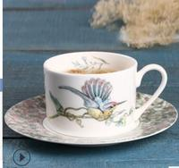 2018 new style European bone china coffee cup dish suit afternoon tea cup with saucer Black Tea household Free shipping