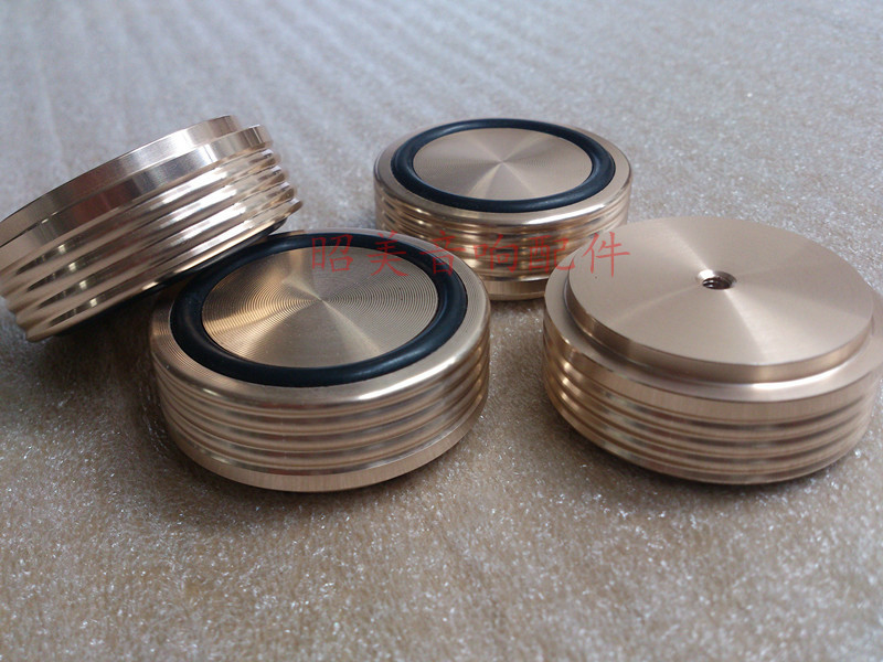 d:44mm H:17mm gold Careful 4pcs Aluminum Feet For Amplifier /speaker with Screw Thread