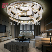New Creative Modern Simple Stylish K9 Crystal Chandelier Living Room Led Lighting Flush Mount Guarantee 100