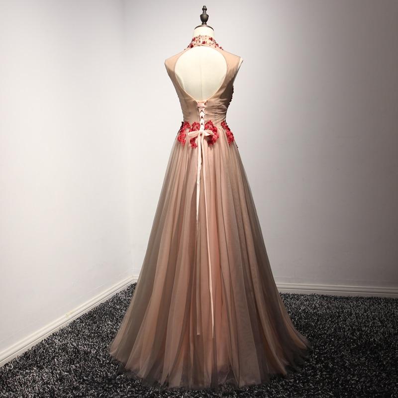 VENSANAC 2018 High Neck Luxury Crystal En Line Long Evening Dresses - Särskilda tillfällen klänningar - Foto 2