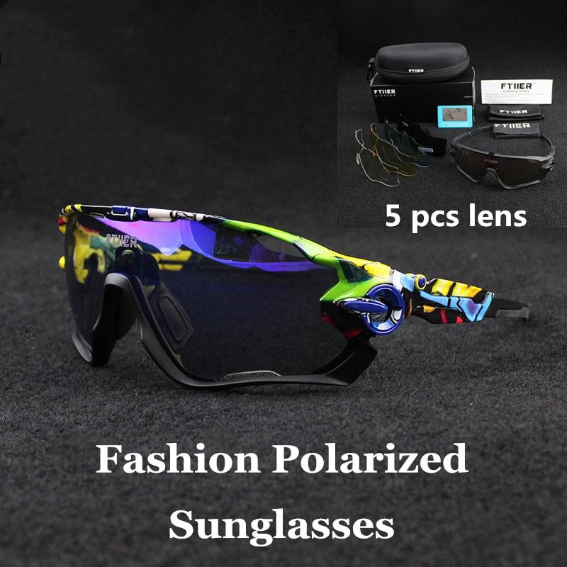 5db903eb671f Men/Women Polarized 5 Lens Cycling Glasses outdoor Sport Road Bike Cycling  Eyewear Cycling Sunglasses Bicycle Hiking Fishing-in Cycling Eyewear from  Sports ...