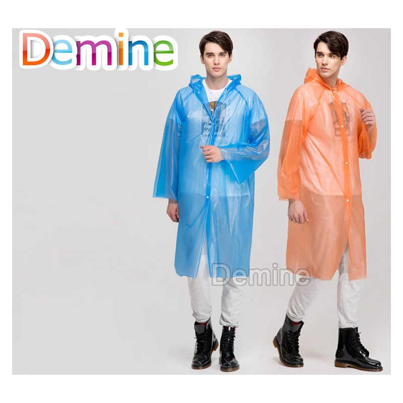 Wanita Jas Hujan dan Tahan Air Hooded EVA Jaket Hujan Ponco Luar Hiking Hujan Seragam Kode Jas Hujan Sepatu