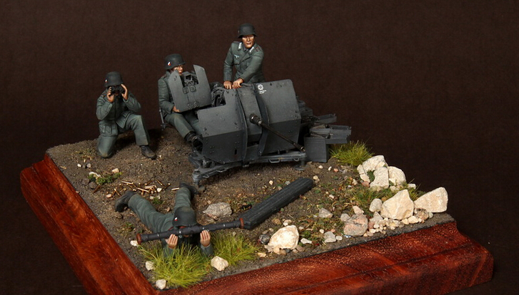 resin assembly Kits 1/ 35 Crew for 2 cm Flak 38 just include 4 soldiers Unpainted Kit Resin Model Free Shipping