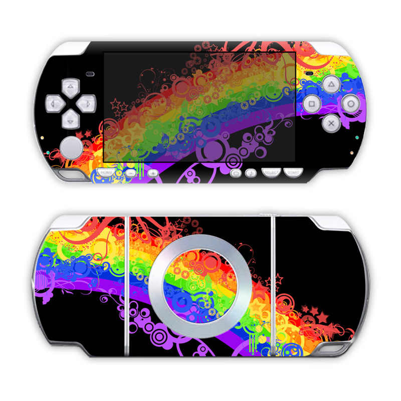 Livraison directe gratuite Super qualité de vinyle imperméable décalque housse de protection pour Sony PSP 2000 # TN-PP2000-5088