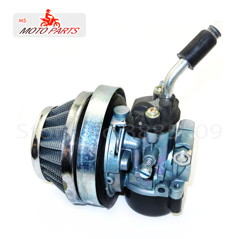 White Mini Two-Stroke Refitted Engine Carburetor With Air Filter For 49cc 50cc 60cc 66cc 80cc Motorized Bike Bicycle