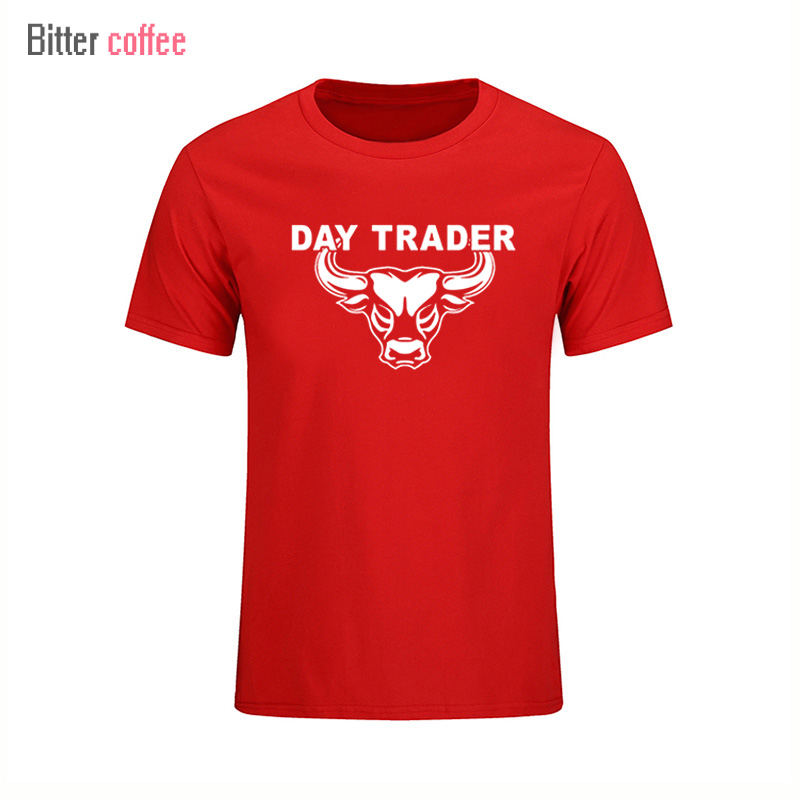 2017 Summer Short sleeve T-Shirts Day Trader Shirt Stock Market Trading printing Tops & Tees T shirt image