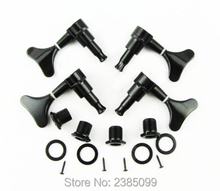 Gotoh Style Tuning Pegs 2L2R Machine Heads for Bass_Black