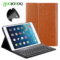 Bluetooth 3 0 Keyboard Case For IPad Air 2 1 PU Leather ABS Magnetic Cover Case
