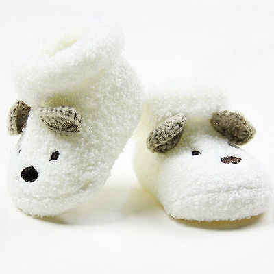 All Seasonal Lovely Warm Newborn Socks Unisex Baby Boys Girls Infant NEW Cute Bear Crib Warm Shoes CA