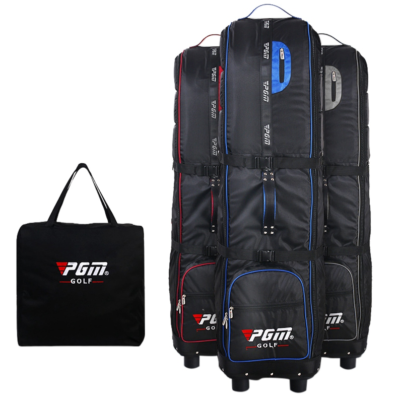 Foldable Golf Aviation Bag Nylon Brand PGM Large Capacity Waterproof Golf Bags with Wheels Golf Holiday Travel Cover/Bag Case pgm new golf clothing travel bag manmgolf shoes bag package soft pu ball bag large capacity clothes bag black woman