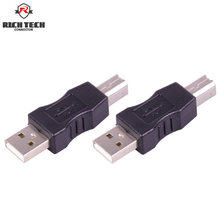 USB 2.0 A Male plug to B male plug adapter USB AM to BM converter Printer connector(China)