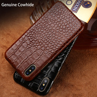 New crocodile pattern half pack phone case for iPhone X leather creative phone case for iPhone 4 4s 5 5s 6 6s 7 7plus 8 8plus