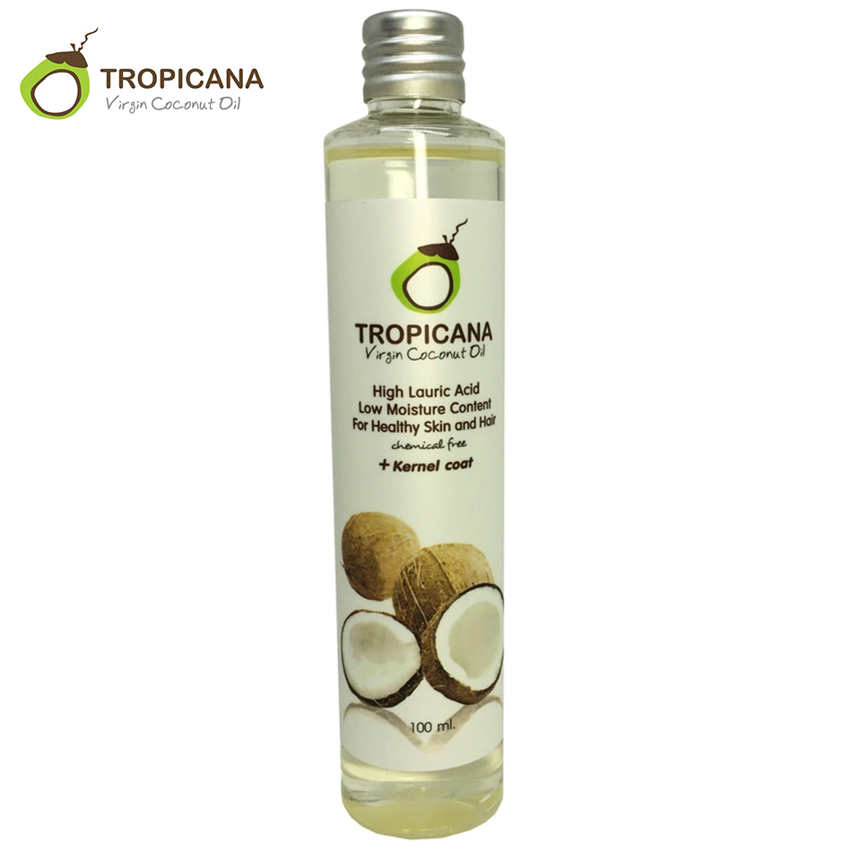 Tropicana 100% Naturale Biologico Extra Vergine di Olio di Cocco Thailandia Best Freddo Presse Olio Essenziale di Cura Dei Capelli Della Pelle di Olio di Cocco