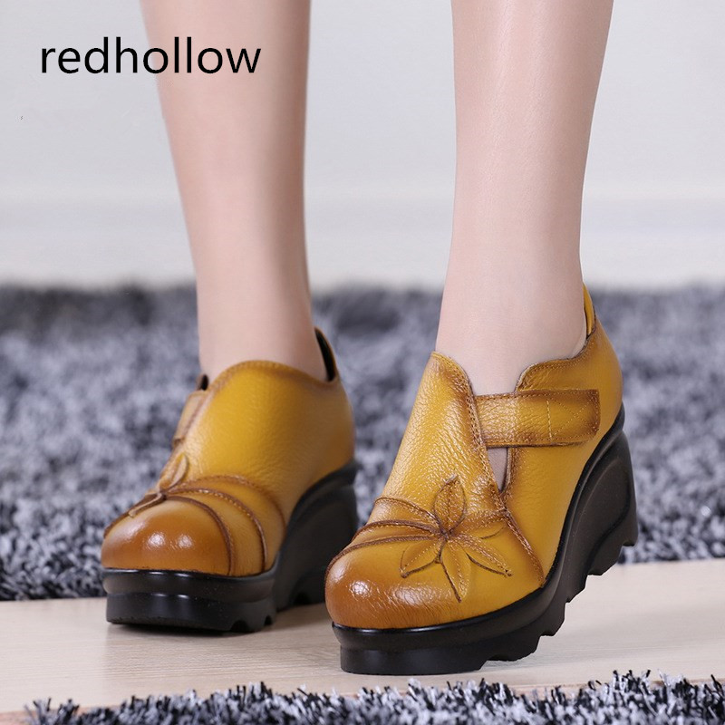 2019 new women sandals soft leather summer Genuine Leather handmade comfortable flat casual