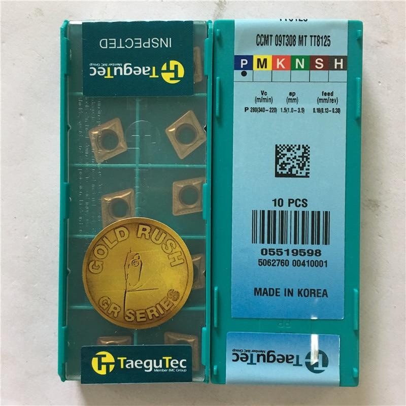 CCMT09T308MT TT8125 original KOREA TAEGUTEC TUNGSTEN TURNING TOOL 10pcs lot free shipping