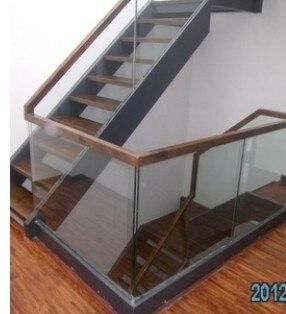 Promocional interior de madera de madera escalera de barandilla de acero inoxidable de medici n - Vallas de acero inoxidable ...