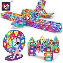 BD 78pcs-400pcs Kids Toys Educational Mini Magnetic Designer 3D DIY Models Construction Creative Enlighten Building Toy Gifts