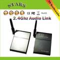 2.4G 2.4 GHz Universal Wireless Stereo Música Compañero Parter Receptor Transmisor de Audio Altavoz Caja de enlace Adaptador, Envío Libre