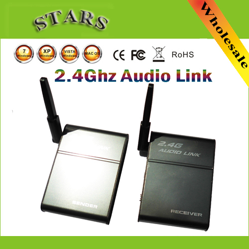 2 4G 2 4GHz Universal Stereo Wireless Music Companion Parter Audio Transmitter Receiver font b Speaker