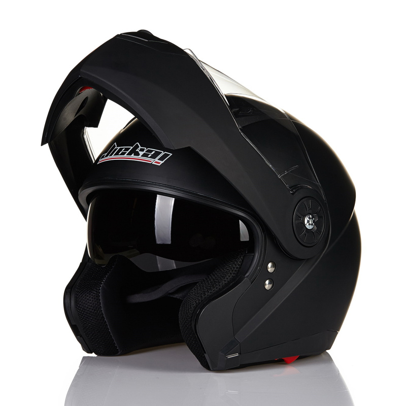 JIEKAI 115 Motorcycle helmets Double Visors Modular Flip Up helmet DOT approved Full face casque moto racing Motocross helmet ...