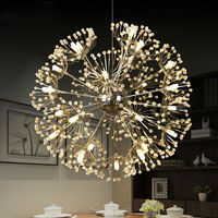 Modern Led Pendant Light For Lobby Dining Room Flower Arts Deco Lighting AC85 265V Suspension Luminaire