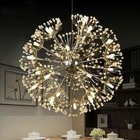 Modern Led Pendant Light For Lobby Dining Room Flower Arts Deco Lighting AC85 265V Suspension Luminaire