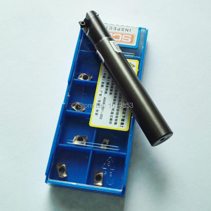 AD238-0708*C10*100L Small diameter milling cutter arbor 8mm cutter diameter for ADMT070208R carbide inserts food machinery cutter hole reamer series pitch diameter 3mm to 8mm diameter aperture 8