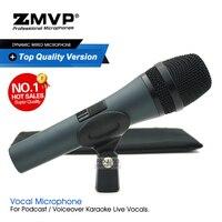 Top Grau de Qualidade UM Profissional Ao Vivo E845 E845S Super-Dinâmico Cardióide Vocal Microfone Com Fio Handheld Microfone Para Karaoke Stage