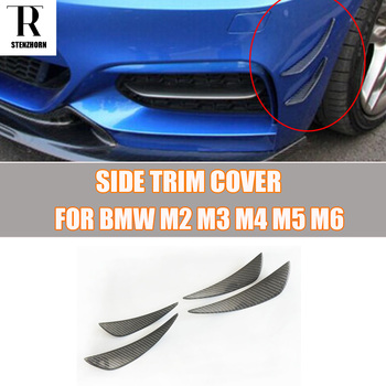 M3 M4 Carbon Fiber Front Bumper Side Canards Splitter Spoiler for BMW M2 M3 M4 M5 M6 X5M X6M ( FIT ALL M POWER CAR ) image