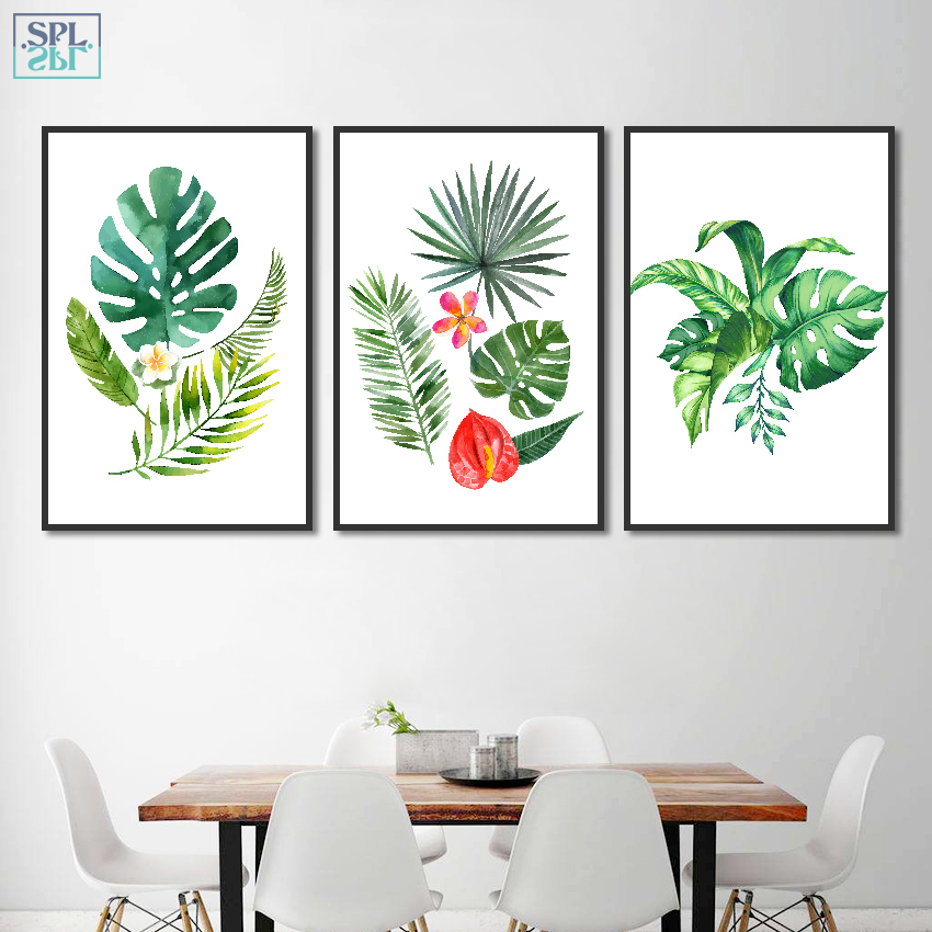 Splspl Nordic Style Tropical Rainforest Green Plant Leaf