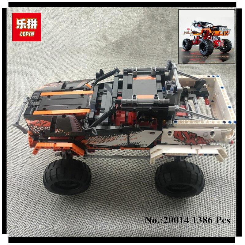 IN STOCK LEPIN 20014 1386Pcs Technic Series 4X4 Crawler Vehicles Model Building Kit Blocks Bricks Toys Gift With 9398 конструктор lepin technic монстр трак 4x4 crawler 1605 дет 20011