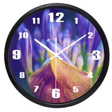 Tulip Flower Wall Clock Hot Fashion Silent Large Living Room Real Photo Wall Clock  Home Decor