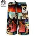 2015 Мода лето быстросохнущий совета печати пляжные шорты мужчин короткие мода Стволы мужские шорты