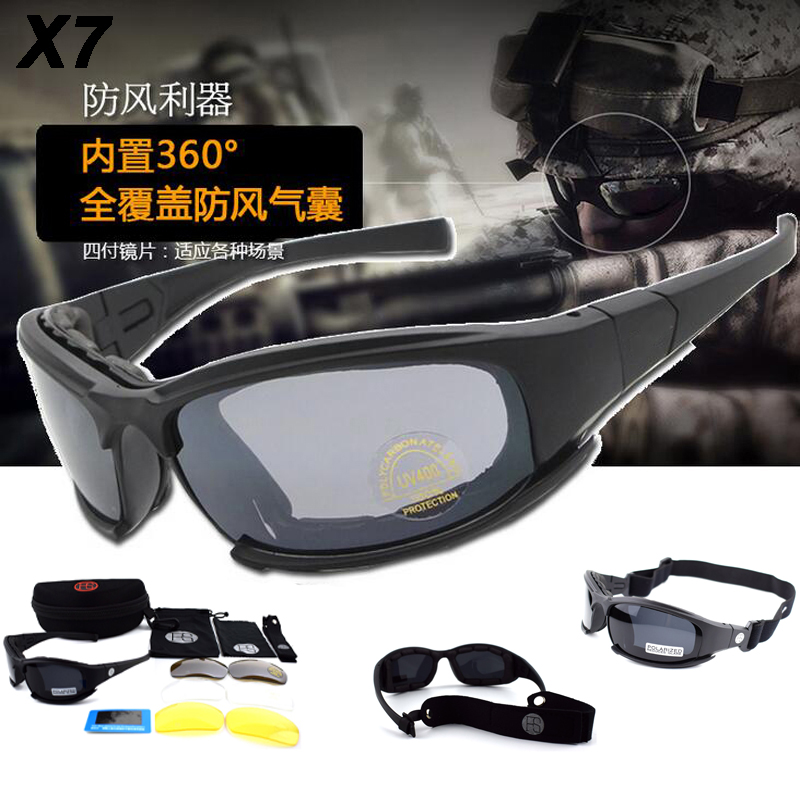 5ada32a0d4e87 Hot Sale Army Tactical Goggles X7 C5 Sport Polarized Glasses Men Cycling  Sunglasses Hiking UV400 Protection ...
