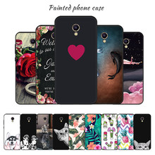 Painted Phone Case For Meizu M6 M5 Note M5Note M6Note M 5Note 6Note Soft TPU Black Case For Meizu M5S M5C M 5S 5C Cover Shell(China)