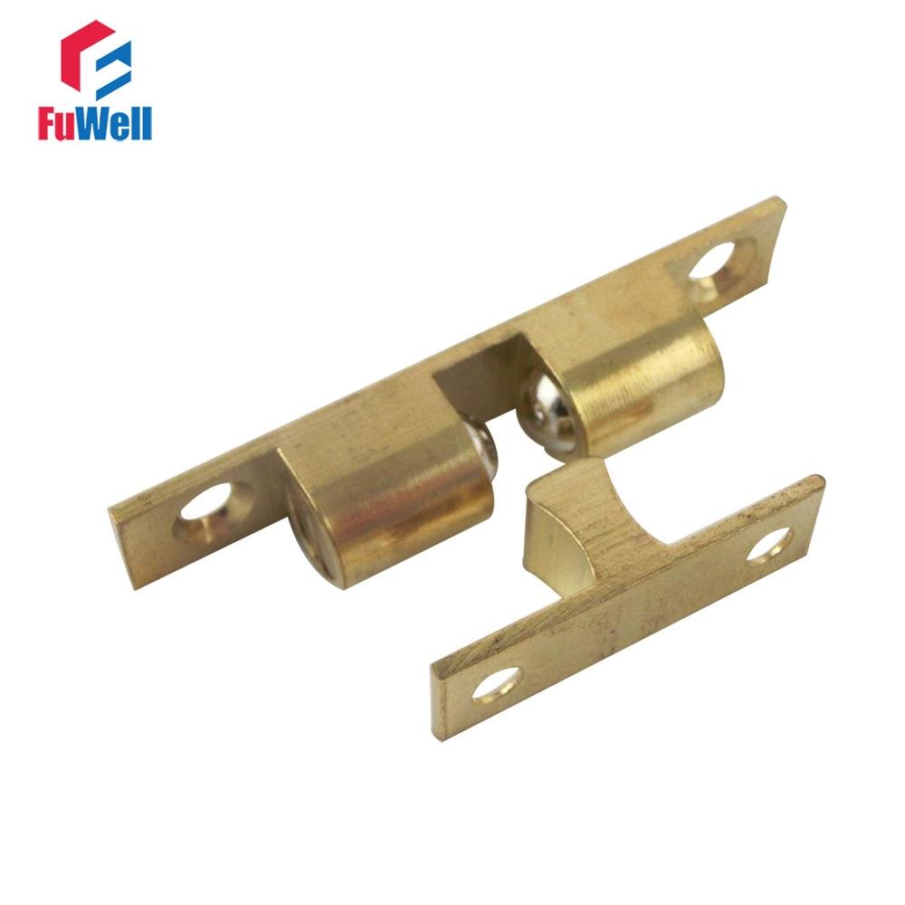 4pcs Door Catches 60mm Length Door Closer Brass Double ...