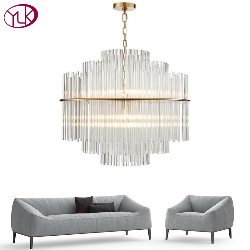 Youlaike Modern Glass Chandelier Lighting Luxury Living ...