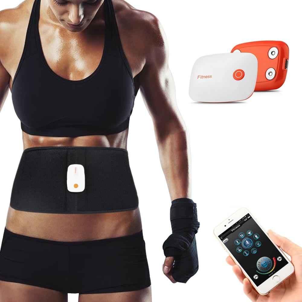 APP contrôle corset Rechargeable ABS ceinture de remise en forme électronique appareil de musculation abdominale entraînement de l'estomac masseur tonifiant