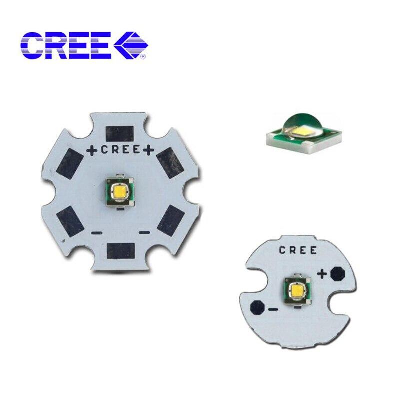 10 pces 3 w cree led xpe XP-E r3 alto powr chip led branco quente branco frio 3000 k 6500 k 8000 k 10000 k 13000 k com 20mm 16mm placa do pwb