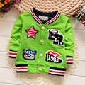 Casual Spring Autumn Kids Long Sleeved Letter Star Striped Boys Jackets Cardigan Baby Infants Outwear Coats Casaco MT851