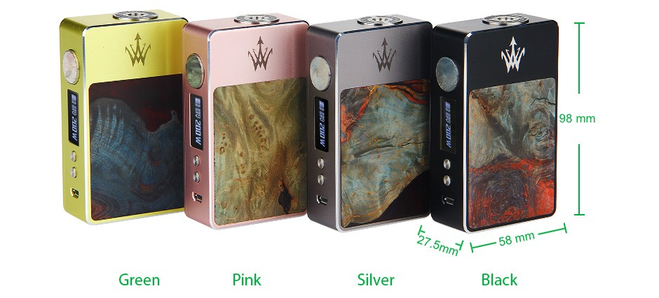 Woody Vapes Stabilized Wood X200 TC Box MOD WO Battery 1