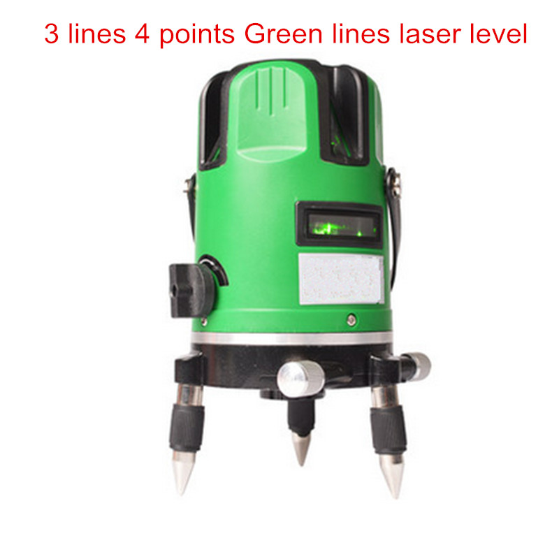 3 lines 4 points green laser level infrared laser 360 self-leveling rotary cross line level nivel a laser lazernnyi level kapro clamp type high precision infrared light level laser level line marking the investment line