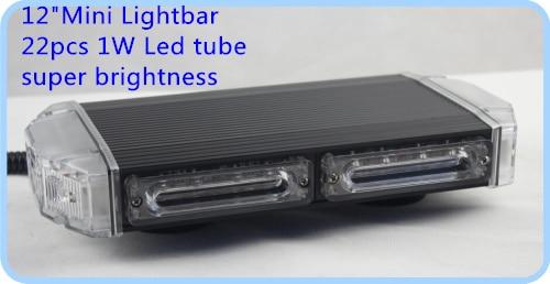 22W 30cm Led lampu peringatan mobil yang lebih tinggi, lampu darurat - Lampu mobil - Foto 3