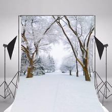 2017 Snow Scenic Photography Backgrounds Children Photo Backdrops Camera Fotografica Forest Snow Background Studio Props