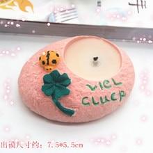 Silicone Mold Concrete Flowerpot Mould Handmade Cement Candle Holder Desktop Decoration
