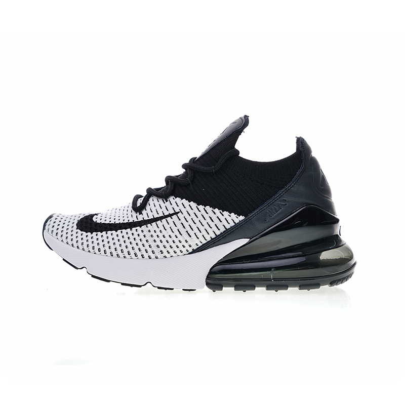 US $80.8 22% OFF|Authentic Nike Air Max 270 Flyknit Men's Comfortable Running Shoes Outdoor Sneakers Good Quality 2018 New Arrival AO1023 003 in